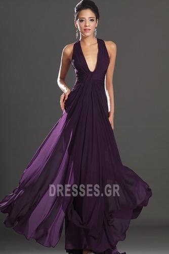 Αχλάδι Καλοκαίρι Πολυτελές Οι πτυχωμένες μπούστο Βραδινά φορέματα - Σελίδα 2