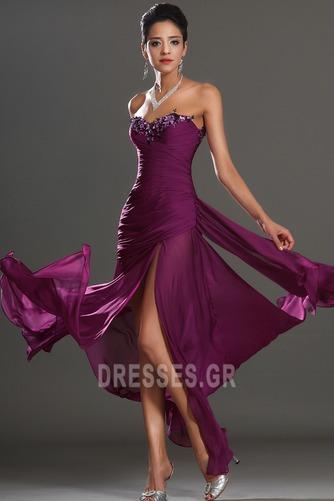 Αμάνικο Λαμπερό Χαμηλή Μέση Μπροστινό Σκίσιμο Μπάλα φορέματα - Σελίδα 4