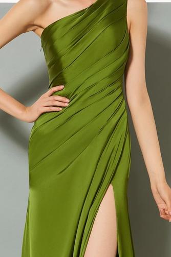 Πλισέ Τα μέσα πλάτη Αμάνικο Κομψό Φυσικό Βραδινά φορέματα - Σελίδα 4