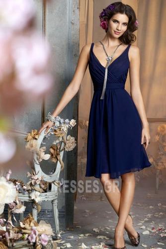 απλός Φερμουάρ επάνω Λαιμόκοψη V Μέχρι το Γόνατο Παράνυμφος φορέματα - Σελίδα 1