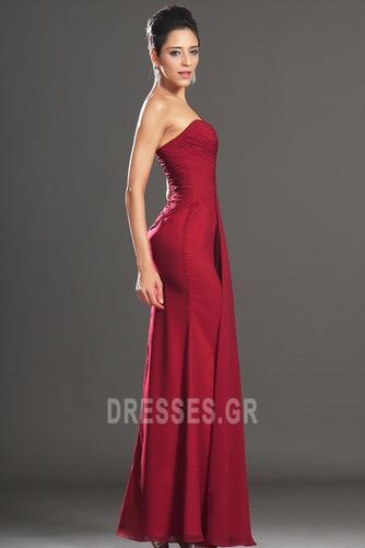 Φυσικό Φερμουάρ επάνω Ένας Ώμος Σιφόν Κομψό Βραδινά φορέματα - Σελίδα 4