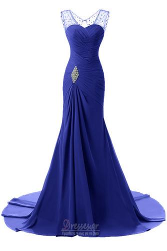 Κρυστάλλινη απλός Χάνει Μήκος πατωμάτων Φερμουάρ επάνω Βραδινά φορέματα - Σελίδα 4
