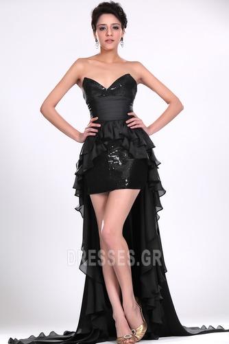 Σιφόν Μαύρο φύλλο Φυσικό Φερμουάρ επάνω σύγχρονος Κοκτέιλ φορέματα - Σελίδα 3