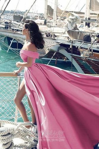 Άνοιξη Ντραπέ Από τον ώμο Αμάνικο Φερμουάρ επάνω Βραδινά φορέματα - Σελίδα 6