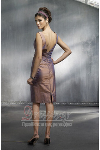 Αμάνικο Φερμουάρ επάνω πιέτα Μέχρι το Γόνατο Κοκτέιλ φορέματα - Σελίδα 2