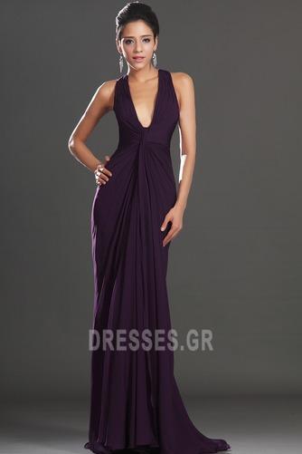 Αχλάδι Καλοκαίρι Πολυτελές Οι πτυχωμένες μπούστο Βραδινά φορέματα - Σελίδα 3