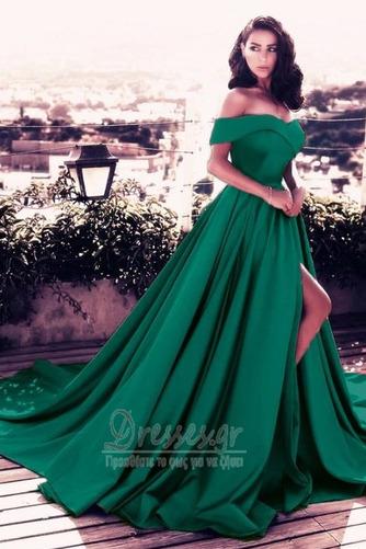Άνοιξη Ντραπέ Από τον ώμο Αμάνικο Φερμουάρ επάνω Βραδινά φορέματα - Σελίδα 10