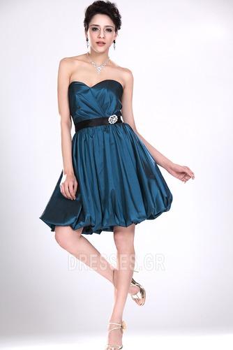Αμάνικο αγαπημένος Κοντό Καλοκαίρι σικ Φερμουάρ επάνω Παράνυμφος φορέματα - Σελίδα 3