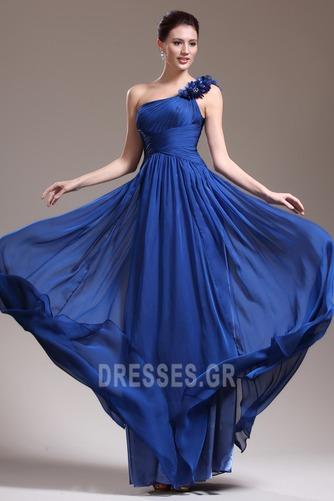 Ένας Ώμος Κομψό Ντραπέ Χαμηλή Μέση Αμάνικο Βραδινά φορέματα - Σελίδα 3