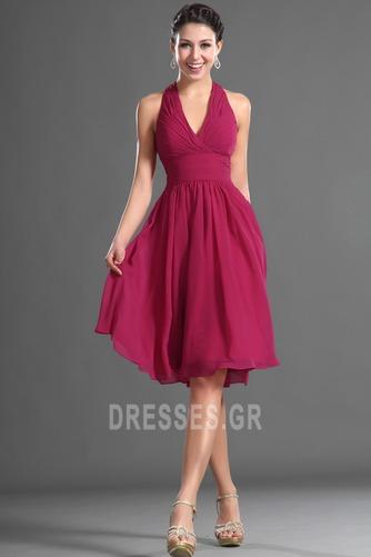 Καλοκαίρι απλός Σιφόν Φυσικό Αμάνικο Μίνι Παράνυμφος φορέματα - Σελίδα 1