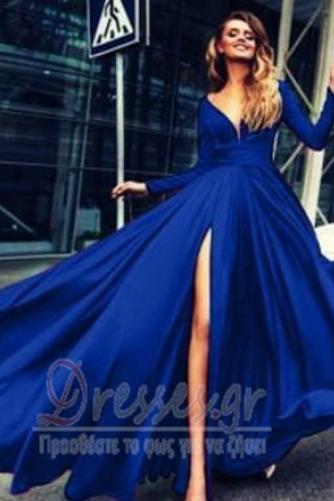 Μπροστινό Σκίσιμο Κοντομάνικο Βαθιά v-λαιμός Βραδινά φορέματα - Σελίδα 6