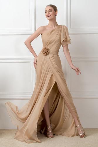 Ένας Ώμος Φυσικό Ασύμμετρα μανίκια Πολυτελές Βραδινά φορέματα - Σελίδα 2