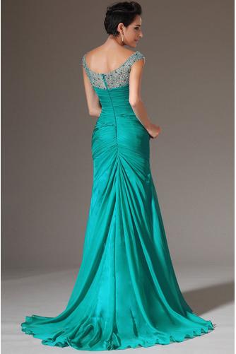 Κρυστάλλινη απλός Χάνει Μήκος πατωμάτων Φερμουάρ επάνω Βραδινά φορέματα - Σελίδα 2