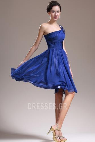 Φυσικό Τα μέσα πλάτη Γραμμή Α απλός Ένας Ώμος Παράνυμφος φορέματα - Σελίδα 4