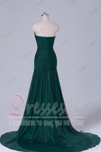 Σιφόν Αμάνικο Λαμπερό Χάντρες Μήκος πατωμάτων Βραδινά φορέματα - Σελίδα 10
