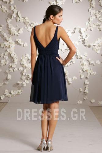 απλός Φερμουάρ επάνω Λαιμόκοψη V Μέχρι το Γόνατο Παράνυμφος φορέματα - Σελίδα 2