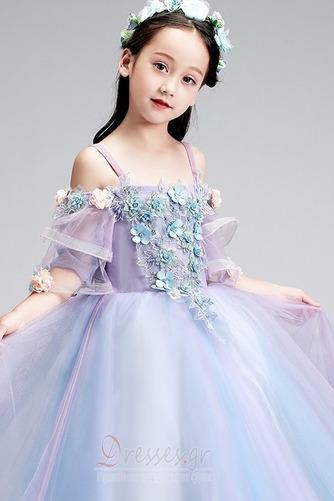 Τετράγωνο Τονισμένα ροζέτα Χαλαρά μανίκια Λουλούδι κορίτσι φορέματα - Σελίδα 5