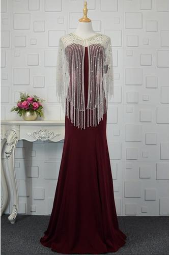 Φυσικό Ρομαντικό Θήκη Χάντρες Μακρύ εξώπλατο Βραδινά φορέματα - Σελίδα 5