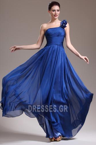 Ένας Ώμος Κομψό Ντραπέ Χαμηλή Μέση Αμάνικο Βραδινά φορέματα - Σελίδα 1