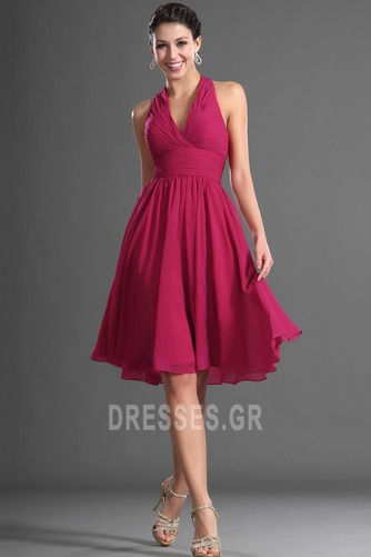 Καλοκαίρι απλός Σιφόν Φυσικό Αμάνικο Μίνι Παράνυμφος φορέματα - Σελίδα 4