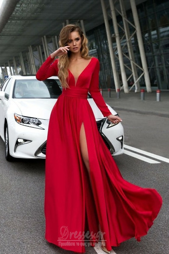 Μπροστινό Σκίσιμο Κοντομάνικο Βαθιά v-λαιμός Βραδινά φορέματα - Σελίδα 3