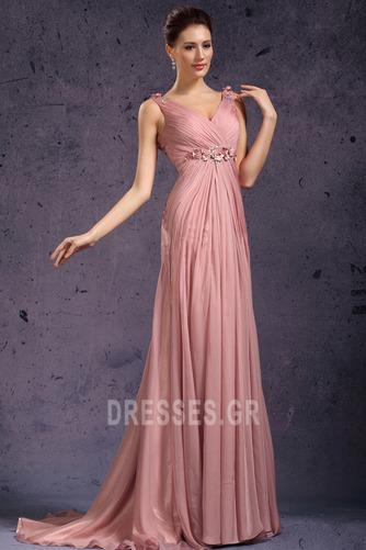 Κομψό Φθινόπωρο Μέση αυτοκρατορία Χάντρες Βραδινά φορέματα - Σελίδα 2