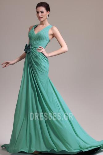Φυσικό Γραμμή Α δραματική Λαιμόκοψη V Χάνει Βραδινά φορέματα - Σελίδα 1