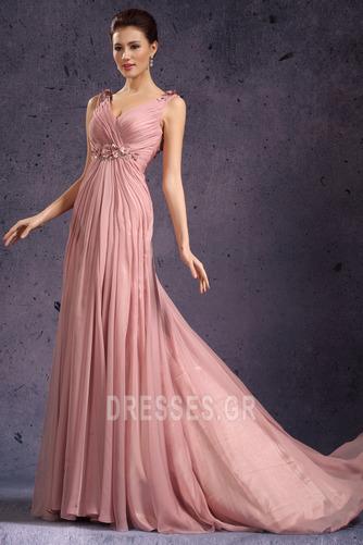 Κομψό Φθινόπωρο Μέση αυτοκρατορία Χάντρες Βραδινά φορέματα - Σελίδα 5
