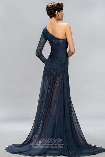 Ασύμμετρα μανίκια Δαντέλα Τα μέσα πλάτη Μακρύ Βραδινά φορέματα - Σελίδα 3
