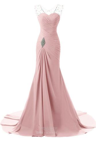 Κρυστάλλινη απλός Χάνει Μήκος πατωμάτων Φερμουάρ επάνω Βραδινά φορέματα - Σελίδα 8