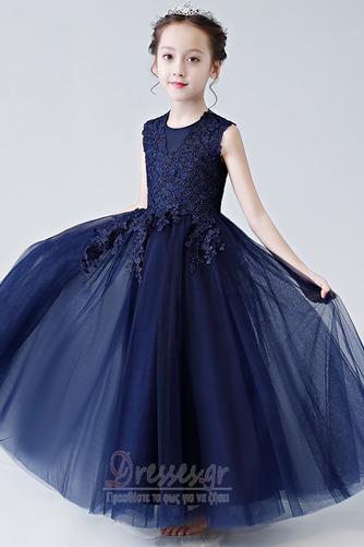 Κομψό Καλοκαίρι Δαντέλα Γραμμή Α Αμάνικο Λουλούδι κορίτσι φορέματα - Σελίδα 1