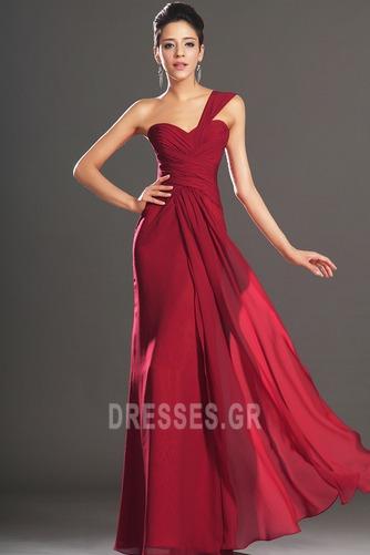 Φυσικό Φερμουάρ επάνω Ένας Ώμος Σιφόν Κομψό Βραδινά φορέματα - Σελίδα 1