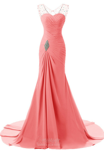 Κρυστάλλινη απλός Χάνει Μήκος πατωμάτων Φερμουάρ επάνω Βραδινά φορέματα - Σελίδα 5