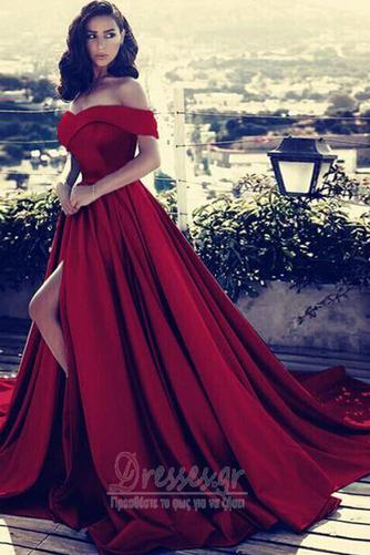 Άνοιξη Ντραπέ Από τον ώμο Αμάνικο Φερμουάρ επάνω Βραδινά φορέματα - Σελίδα 5