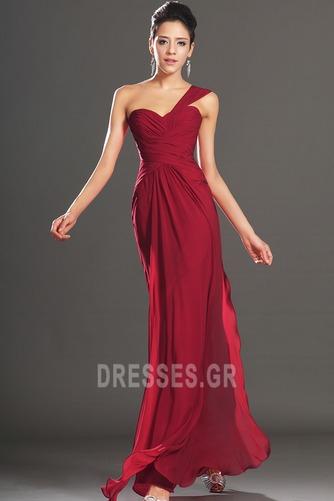 Φυσικό Φερμουάρ επάνω Ένας Ώμος Σιφόν Κομψό Βραδινά φορέματα - Σελίδα 3