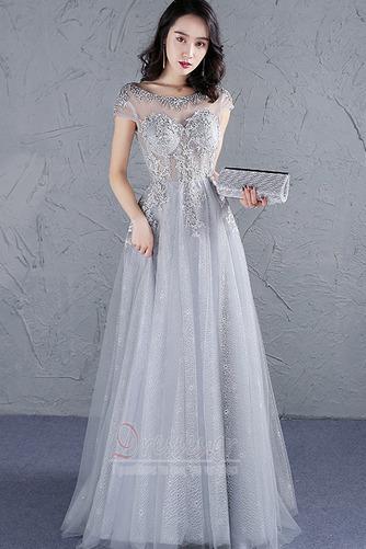Φυσικό Προσαρμοσμένες μανίκια Δαντέλα-επάνω Μπάλα φορέματα - Σελίδα 1