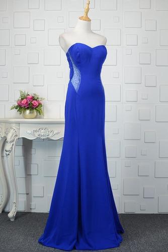 Φυσικό Ρομαντικό Θήκη Χάντρες Μακρύ εξώπλατο Βραδινά φορέματα - Σελίδα 3