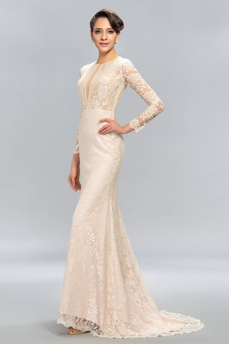 Ντραπέ Φθινόπωρο Δαντέλα Φυσικό Ψευδαίσθηση Βραδινά φορέματα - Σελίδα 3