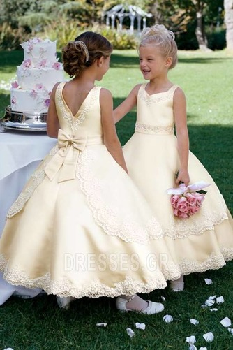 Τονισμένα τόξο Μέχρι τον αστράγαλο Μικροκαμωμένη Λουλούδι κορίτσι φορέματα - Σελίδα 1