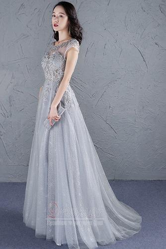 Φυσικό Προσαρμοσμένες μανίκια Δαντέλα-επάνω Μπάλα φορέματα - Σελίδα 4