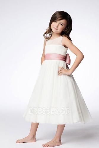 Τόξο Πριγκίπισσα Τονισμένα τόξο Λευκό Το μήκος τσάι Λουλούδι κορίτσι φορέματα - Σελίδα 1