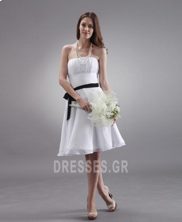 Μέχρι το Γόνατο Μικροκαμωμένη Τα μέσα πλάτη Παράνυμφος φορέματα - Σελίδα 2
