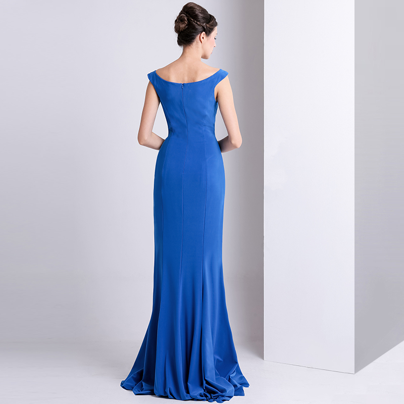 415ce20e4a61 ... απλός Ντραπέ Χάνει Φερμουάρ επάνω Θήκη Τραίνο σκουπισμάτων Βραδινά  φορέματα - Σελίδα 5