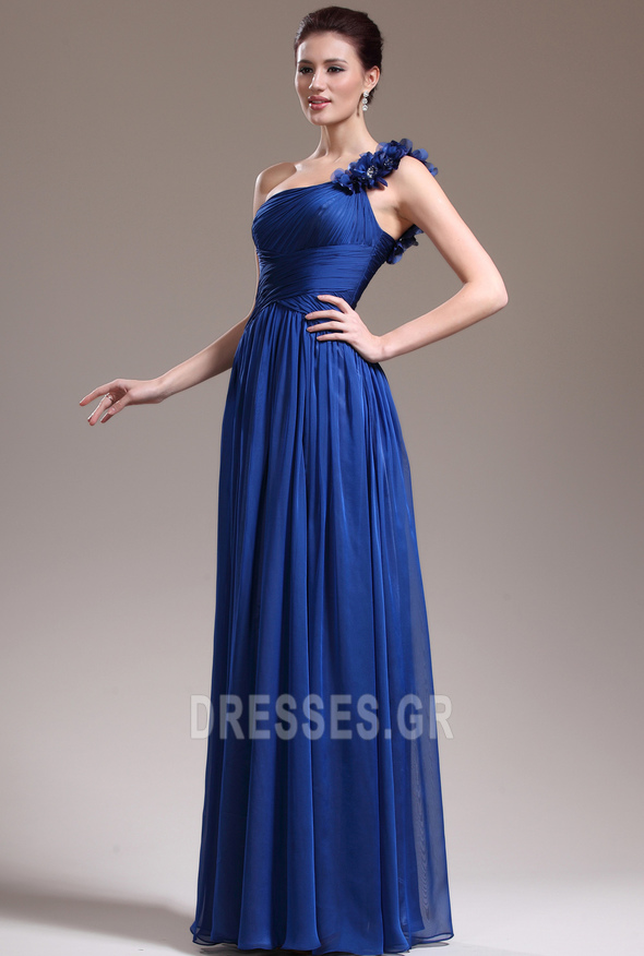 Ένας Ώμος Κομψό Ντραπέ Χαμηλή Μέση Αμάνικο Βραδινά φορέματα - Σελίδα 5