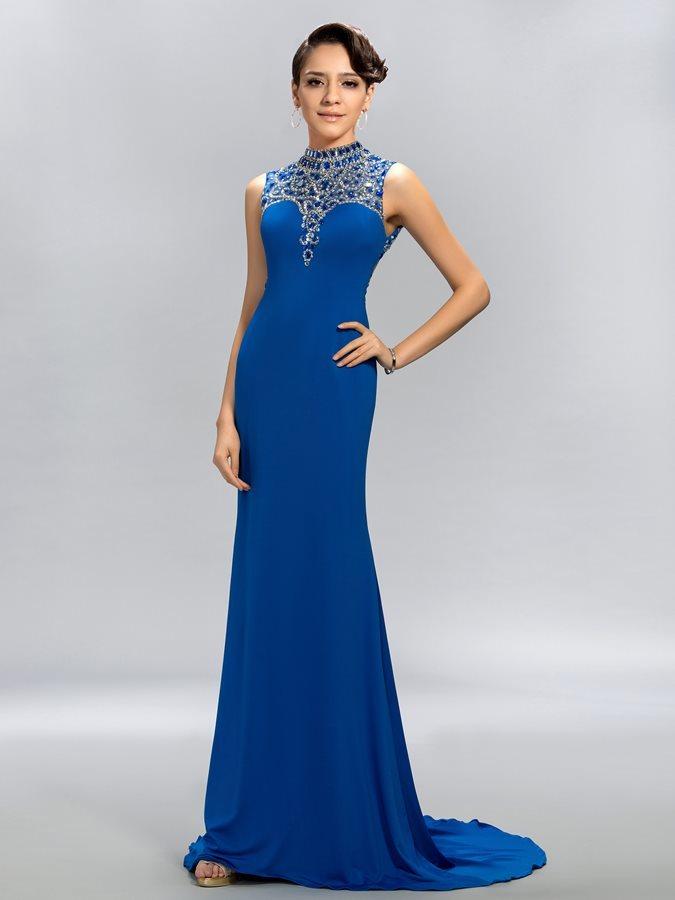 a2cb88727ff Υψηλός λαιμός Επίσημη Θήκη Φυσικό Χάντρες Βραδινά φορέματα - Σελίδα 1 ...