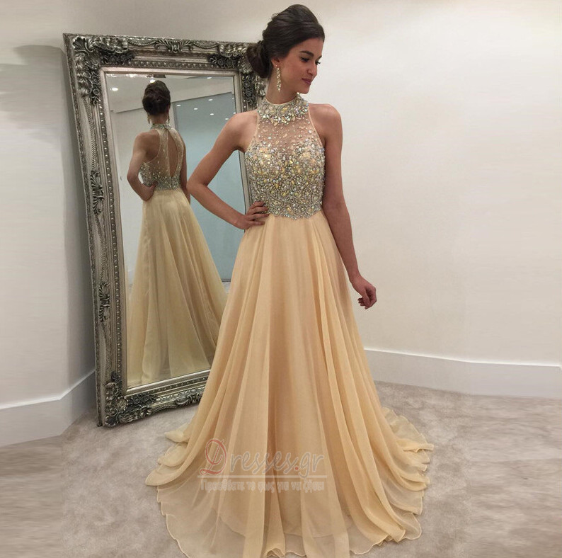6d0cfc0c58e8 Κόσμημα τονισμένο μπούστο Άνοιξη Σιφόν Λάμψη Βραδινά φορέματα - Σελίδα 1