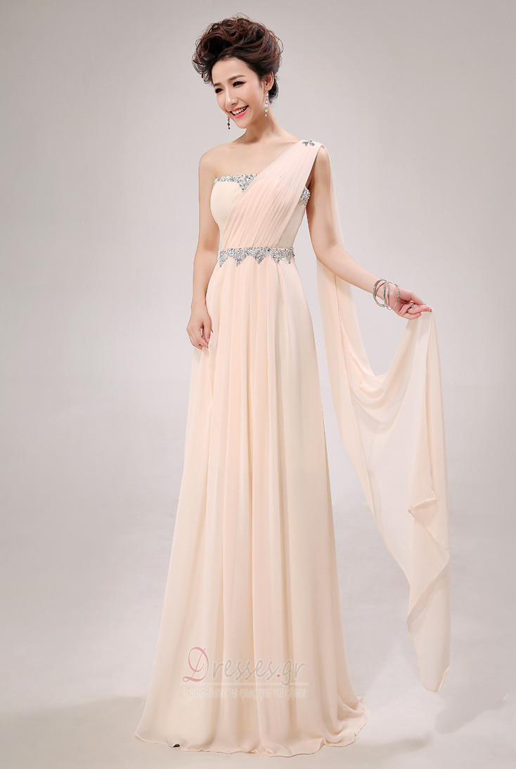 145eac701d4 Κομψό Χάνει Ένας Ώμος Φερμουάρ επάνω Οι πτυχωμένες μπούστο Βραδινά φορέματα  - Σελίδα 1 ...