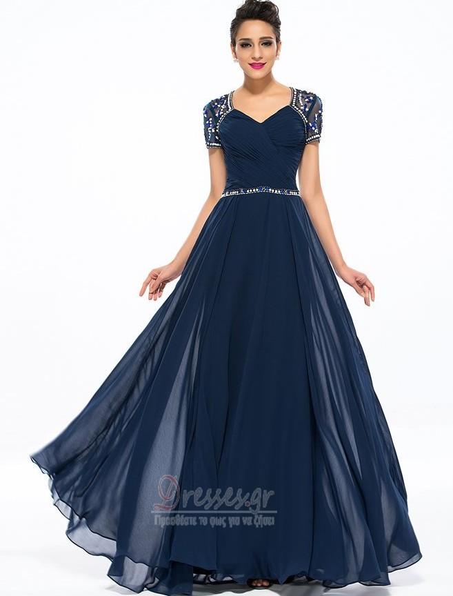 6ba7f0f62a81 Πολυτελές Σιφόν Άνοιξη Κοντομάνικο Χάντρες Μητέρα φόρεμα - Σελίδα 1 ...