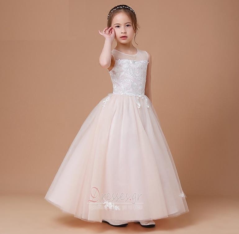 2163a30fd956 ... Φυσικό Φθινόπωρο Δαντέλα-επάνω Επίσημη Αμάνικο Λουλούδι κορίτσι φορέματα  - Σελίδα 3 ...