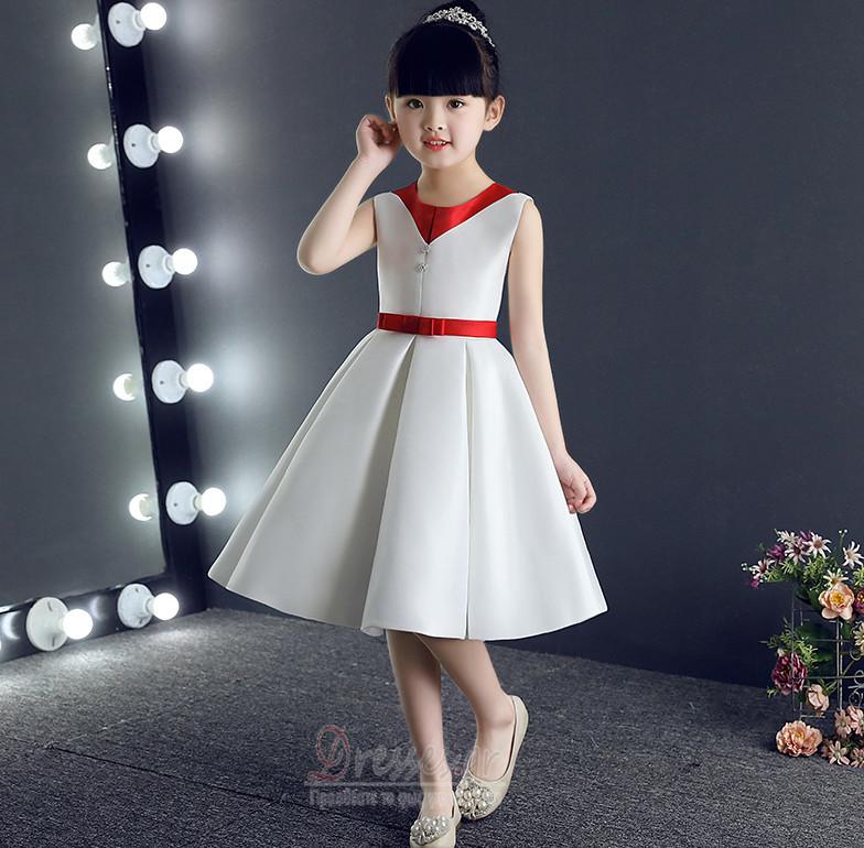 Φθινόπωρο Μέχρι το Γόνατο Τόξο Τετράγωνο Λουλούδι κορίτσι φορέματα - Σελίδα  1 ... 46684d6e967